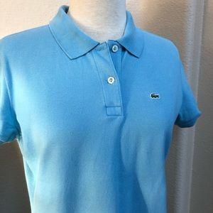 Women's Lacoste Polo Shirt Size 44 Sky Blue Color